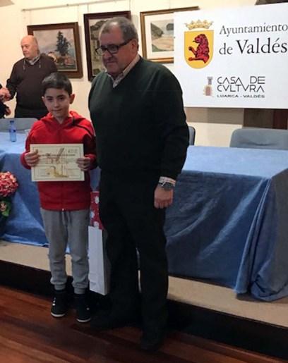 ALBERTO ZARAUZA GALINDO-PREMIO ESPECIAL CONCURSO DE DIBUJO DE NAVIDAD AYTO DE VALDÉS